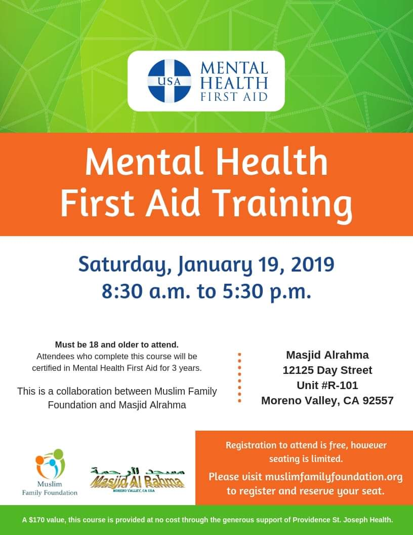 Mental Health First Aid Training Shura Council
